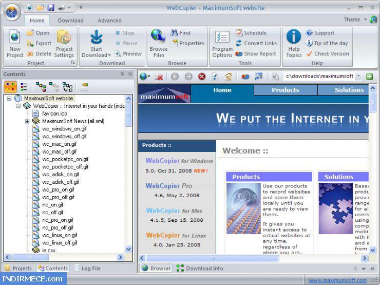 Перейти на домашнюю страницу автора. Найти все программы данного автора. WebCopier
